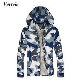 Wholesale Clothes For Fishing - Wholesale-Vertvie Camouflage Mens Hooded Sports Jacket Running Hiking Costume For Fishing Clothes Long Sleeve Pactwork Quick Dry Jackets