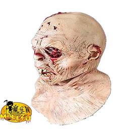 2019 máscaras zombie completas 2018 Nuevo estilo Envío gratis Zombie Máscara Rocío cerebro Alien extraterrestre de Halloween de alta calidad Material de látex Cara completa rebajas máscaras zombie completas