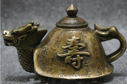 Chinese Silver Longevity Shou Dragon Turtle Tortoise Statue Teapot Wine Pot