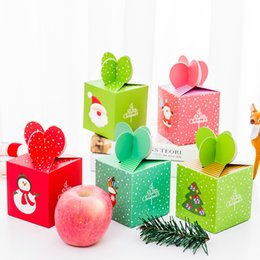 Réveillon de Noël Pomme Boîte D'emballage De Grande Taille Noël Emballage de Cadeaux Cadeau pour Enfants Bonbons De Neige Père Noël Bonhomme De Neige Arbre De Noël Cerf ? partir de fabricateur