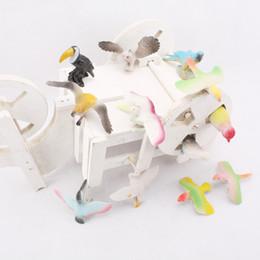 Wholesale birds models - Simulation Bird Model Children 12 Pieces Birds Animal Puzzle Toys Kid PVC Mix Colour Hot Sale 4 8db V