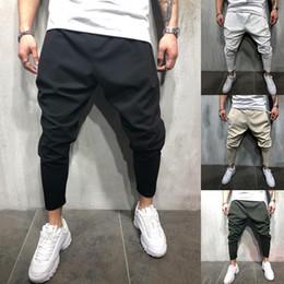 cool hip hop calças Desconto Huation 2.018 homens Moda Joggers lápis Sweatpants Sportswear trilha da aptidão Pants Hip Hop Streetwear Calças frescos pantalon hombre