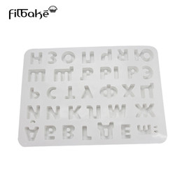 Wholesale chocolate sweet moulds - wholesale Russian Alphabet for ios Letters Silicone Mold Baking Moulds For Cake Chocolate Jelly Sweets Pudding Fondant Decorating