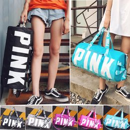 Wholesale Rugby Fitness - Pink Style Storage Bag Large Women Travel Duffel Bag Luggage Casual Beach Adult Exercise Fitness Yoga Bags Little Bags Inside Multicolors