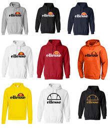 Wholesale Pink Hoodies Men - Ellesse Mens Classic Prado Print Logo Hoodies fashion brand Top sweatshirts Optic 100% Cotton Print Mens Summer Animal