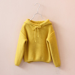 95dd22aee50 knitting strings Promo Codes - 2018 Girls clothes Little Girls sweater Knit  Hoodie String with Big