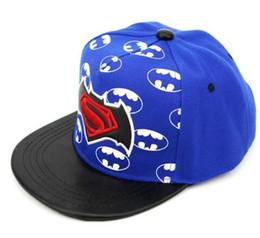Wholesale super man baby - 2018 Brand Baby Snapback Hat Boys Cap For Children Hat Kid Hat Snapback Cap Kid Super Man Hip Hop Cap Unisex Caquette