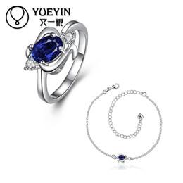 индийское колье Скидка Индийский свадебный модный бренд посеребренные изысканный синий ожерелье CZ Кристалл Fahion ювелирные наборы для женщин