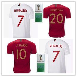 Wholesale national uniforms - CR7 World Cup 2018 Soccer Jerseys home 18 19 national team soccer Shirt Customized football uniform