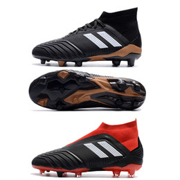 Wholesale Massage 18 - With Box New Hot Predator 18+ 18.1 FG Soccer Cleats Chaussures De Mens Football Boots High Soccers Shoes 18 Sports Man Sneakers 39-45