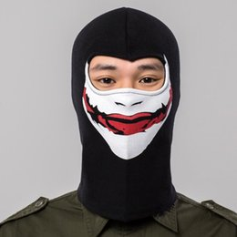 Radfahren kostüm online-Q1016 Freies verschiffen Radfahren Vollgesichtsmaske Balaclava Snowboard Reiten Kostüm CS Kopfbedeckungen Hüte Gesichtsmasken