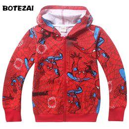 Wholesale Spiderman Jackets - On Sale! 2017 New Spring Autumn Fashion Boys Spider man Coat For Children Jacket Spiderman Outerwear Kids hoodies