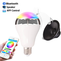 Wholesale Cellphones Smartphones - Wireless 6W Power Bluetooth LED Speaker light Smart Bulb 4.0 Smart lamp RGB Lighting with cellphone controlled Bulb AC85-265 for Smartphones