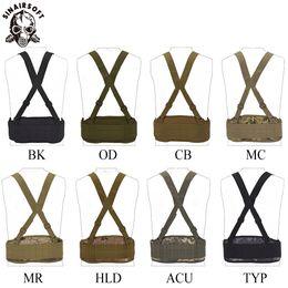 Sinairsoft Tactical Molle Cintura Cinto Acolchoado com H-shaped Suspender Combate Multifunções Airsof Caça Strap Nylon Cummerbunds de Alta Qualidade cheap suspender nylons de Fornecedores de nylons de suspensão