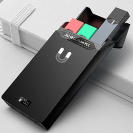 estuche de pluma vape Rebajas Caja de carga portátil auténtica Jili Box 1200mAh como banco de energía para Juul Vape Pluma Juul Pods Starter Kit de envío de DHL