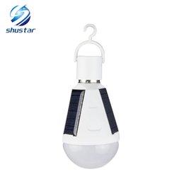 E27 7W 12W Lámpara solar 85-265V Luz de ahorro de energía Lámpara inteligente LED Batería recargable de emergencia solar Luz del día desde fabricantes