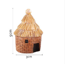Wholesale fairy garden cottage - 1 pcs banda House Fairy Garden Miniature Resin Craft Micro Cottage Landscape terrarium decor home decoration accessories