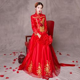 4c6d8134628a 2019 abiti etnici abito tradizionale Nuovo modello di pavone Abito  tradizionale cinese Abito da cerimonia nuziale