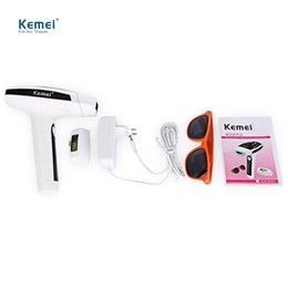 Wholesale Epilator Light - Kemei KM-6812 Photon Pulsed Light Painless Permanent Hair Removal Device Epilator 220V No Nicks Hair Reduction Electric Epilator