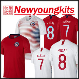 Alexis sanchez jersey online-2018 19 Chile Heimtrikot Trikot entfernt weiße WM-Uniformen Sanchez ALEXIS VIDAL MEDEL Fußballtrikot