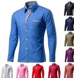 Discount mens green striped shirts - mens slim fit shirt mens dress shirts Striped 2018 New Autumn Fashion Casual Long Sleeve Design Formal Casual Dress Business Formal Shirt