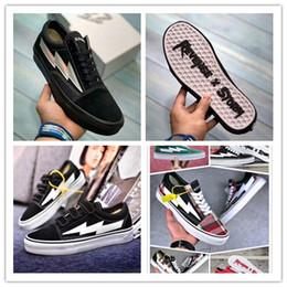 Scarpe articolazioni online-Vendita all'ingrosso REVENGE x STORM Old Skool Shoes Canvas La vendetta della tempesta! sneaker congiunto KANYE unisex con taglio basso rosso
