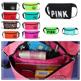 Wholesale Fashion Beach Bags - Women Fashion Waterproof Beach Waist Bag Small Pink Waistpack Purse Pocket For Outdoor Sports 11 Colors DDA218