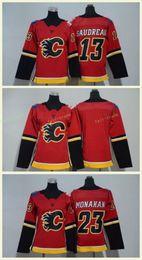2019 calgary jerseys 2018 Calgary Chamas # 13 Johnny Gaudreau Jerseys 23 Sean Monahan Vermelho Senhoras Meninos Hocekey Jerseys Home Premire Homens Mulheres Juventude Crianças calgary jerseys barato
