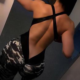 Fato de macacão on-line-GXQIL Macacões Esportivos Mulher Sportswear Terno Do Esporte Da Aptidão Treino Mulheres Camuflagem 2018 Yoga Set Roupas de Ginástica Roupas de Ginástica