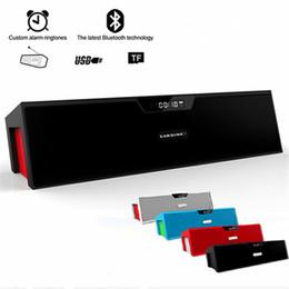 amplificador de micrófono portátil Rebajas SDY-019 Altavoz portátil inalámbrico Bluetooth HIFI 10 w USB Amplificador estéreo Barras de sonido caja con micrófono FM Radio para teléfono