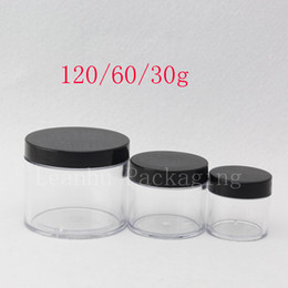 Wholesale plastic food packaging containers - 30g 60g 120g Empty Cosmetic Container Transparent Cream Jar 1oz 2oz 4oz Food Pot ,Tea Tin , Cosmetics Packaging Containers