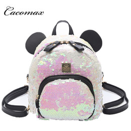 dbcff2eea71d 2018 new cute shoulder bag Korean Sequin fashion bag wild casual trend  small backpack