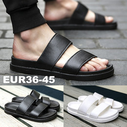 Wholesale Pvc Bath - Fashion Unisex Home Living Indoor Black White Beach Slippers Quick Dry Open Toe Bath Room Shoes Outdoor Soft Summer Slippers For Men Women