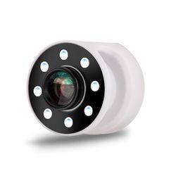 Kamera beleuchtung makro ring online-Selfie Ring Light mit Objektiv für iPhone 8 LEDs Dimmbare Beleuchtung + 0,65 X Weitwinkel + 10X Macro Lens Combo Kamera Kit mit USB Rec