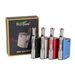 Kit mini box mod online-100% originale Kangvape Mini 420 Box Kit 400mAh VV Batteria Mini TH-420 Mod 0.5ml 510 Vape olio pesante Cartridge Serbatoio