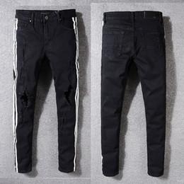 Moda homens ponto jeans on-line-2018 Novos Buracos Ponto de Pintura Calções Homem Zipper Decoração Jeans Calças Para Casual Slim Fit Moda Vestuário Rock Revival 5331