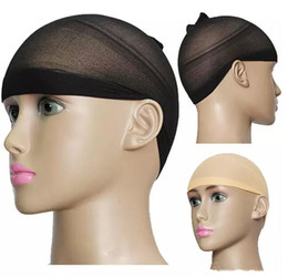 2019 accessori all'ingrosso pettine dei capelli di plastica Maglia di stirata di nylon di Snood del cappuccio della fodera della parrucca della calza unisex 2000pcs Trasporto libero