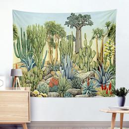 2019 aquarelle paysage art Cactus Aquarelle Mandala Tapisserie Bohémienne Suspendus Tapisseries Paysage Papier Peint Mural Art Châle Lancer Couverture aquarelle paysage art pas cher