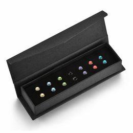 juegos de regalo de cristal swarovski Rebajas 2018 Nuevos regalos de las mujeres del todo-fósforo del diseño simple con los pendientes de la caja 7 pares fijados con los cristales genuinos de Swarovski