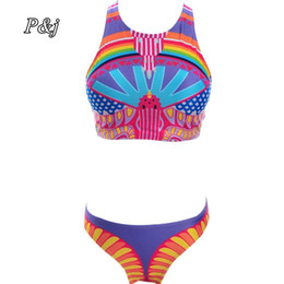 fc6850342bdab P&j Bikini Sets Summer New Sexy Womens Push Up Padded Top Printed Swimsuit  Bathing Suit Swimwear Bikini Bird Print bathing suit