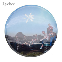 Wholesale exo chanyeol - Lychee Hot KPOP EXO Badge XIUMIN BAEKHYUN CHANYEOL Brooch Pin Bag Jacket Decoration Pin EXO Fans Support Jewelry for Men Women