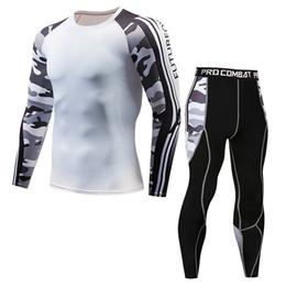 Collant online-T-shirt a maniche lunghe nuova di zecca, collant, allenamento PRO, fitness da corsa, tuta mimetica sportiva da uomo