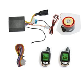 lcd security system Promo Codes - Two Way Motorcycle Alarm Security System With Remote Control Engine Start, Super Long Remote Distance,Two LCD Controls