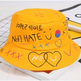 New childrens hats 2-6 years old Korean version of leisure letters fisherman  hat baby sunshade basin hat sun hat tide fea9a87c3ab2