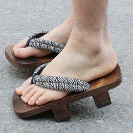 Wholesale Geta Sandals - Men Women Wooden Clogs Japanese Geta Sandals Flip Flops Unisex Slippers Cosplay Multi-patterns