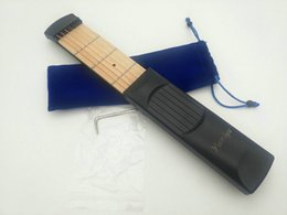 Wholesale Acoustic Guitar Tools - YUMEYA Pratical Portable Pockets Acoustic Guitar Practice Tool Gadget 6 String 4 Fret Model For Beginners Guitar Accessories