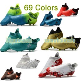 Wholesale Original Leather Soccer Boots - Original ACE 17.1 Purecontrol Soccer Shoes FG Nemeziz Messi 17 Authentic Football Boots X 16 Purechaos Soccer Cleats Mens Nemeziz Tango 17.3