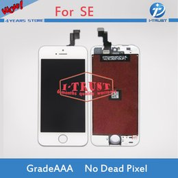 Wholesale iphone 5s replacement screen white - Grade A+++ Quality Black&White For iPhone SE LCD Touch Screen Display Repair Replacement With Free DHL Shipping