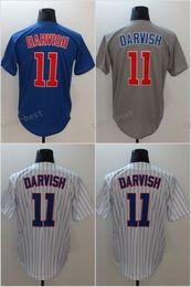 Wholesale order baseball jersey cheap - 2018 Mens 11 Yu Darvish Baseball Jerseys Cheap Stitched Blue Gray White Pinstripe Cool Base Flex Base Shirts Mix Order