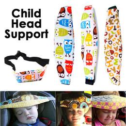 Ajustável Assento de Carro Do Bebê Novo Encosto de Cabeça Cabeça de Dormir Proteger Capa de Almofada Para Crianças de Viagem Interior Acessórios Crianças Cinto de Segurança supplier car headrest covers de Fornecedores de encostos de cabeça do carro